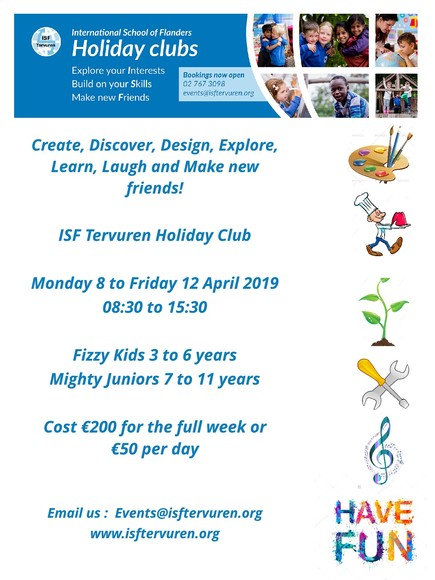 Spring holiday club flyer