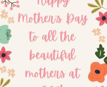 Tan Pink Mothers Day Floral Illustrative Instagram Story
